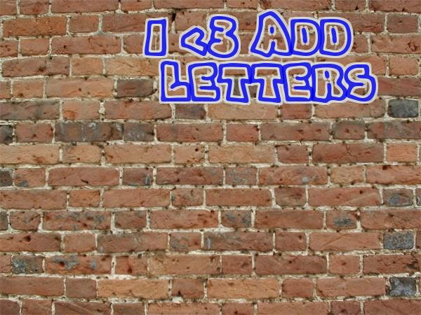 Add Letters » Brick Wall Graffiti