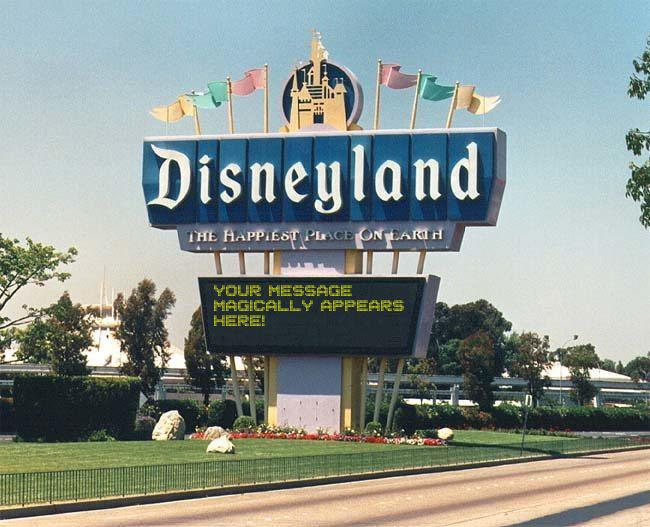 Add Letters » Disneyland Sign Generator