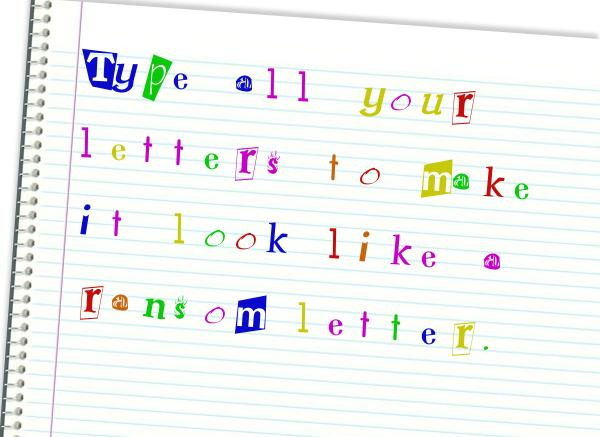 Add Letters » Custom Picture of Ransom Note Generator