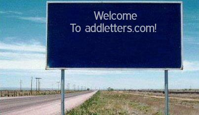 Add Letters » Blue Highway Sign Generator