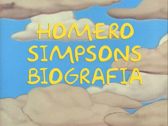 Vida y obra de Homero Simpsons