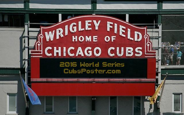 Add Letters » Custom Picture of Wrigley Field Marquee Sign